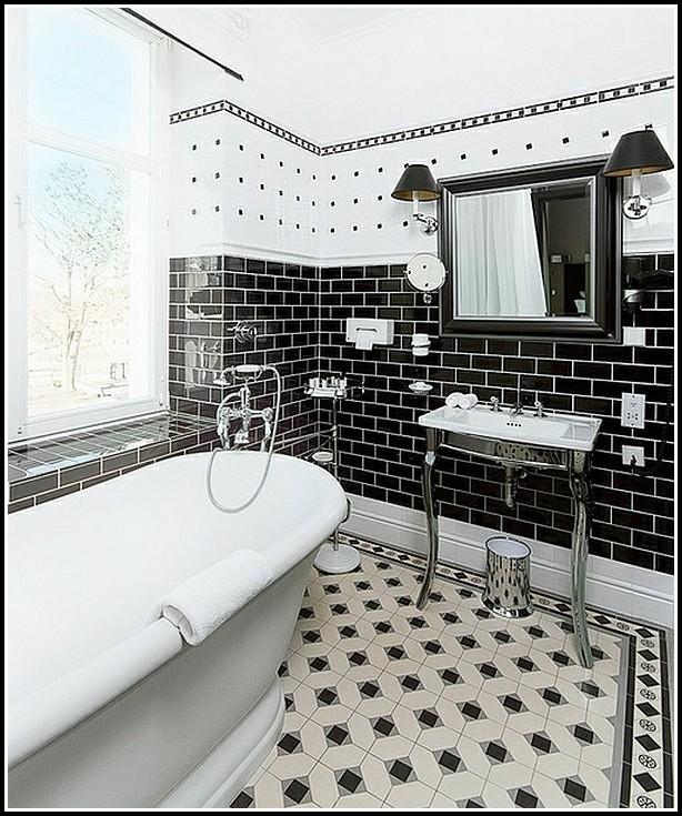 Badezimmer Fliesen Ideen Schwarzweiß Fliesen House Und Dekor