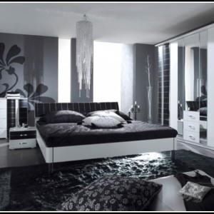 Komplett Schlafzimmer Weiß Schwarz