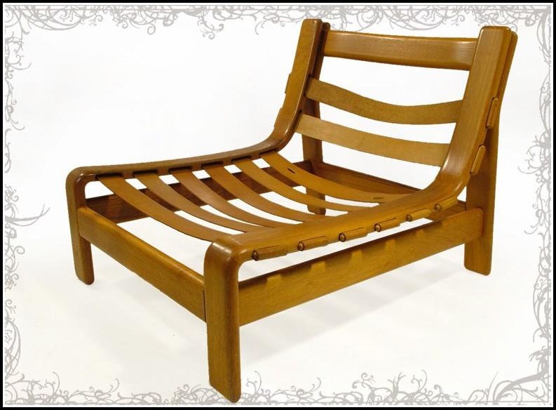 Lounge Sessel Leder Holz