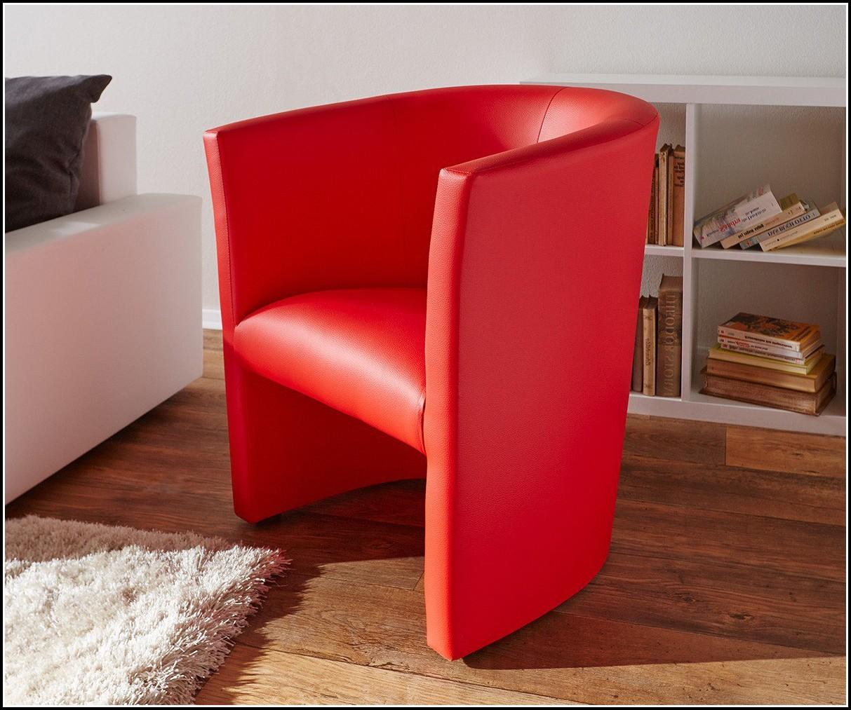 Lounge Sessel Leder Rot