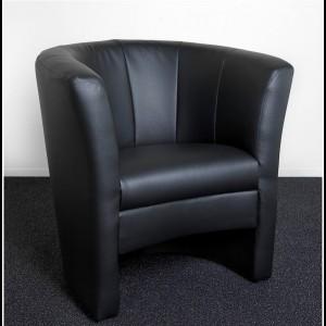 Lounge Sessel Leder Schwarz