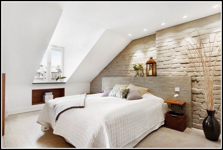 Charmant Schlafzimmer Ideen Wandgestaltung Dachschräge