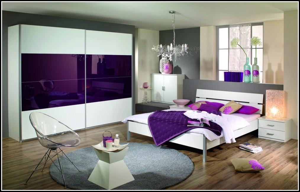 Schlafzimmer Komplett Weiß Lila