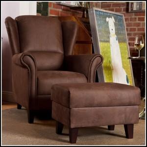Sessel Mit Hocker Antik
