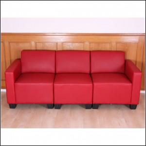 Sofa 3 Sitzer Rot