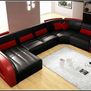 Sofa U Form Leder