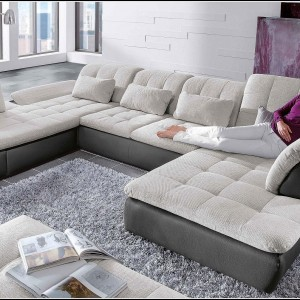 Sofa U Form Stoff