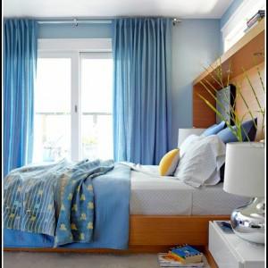 Vorhänge Schlafzimmer Blau