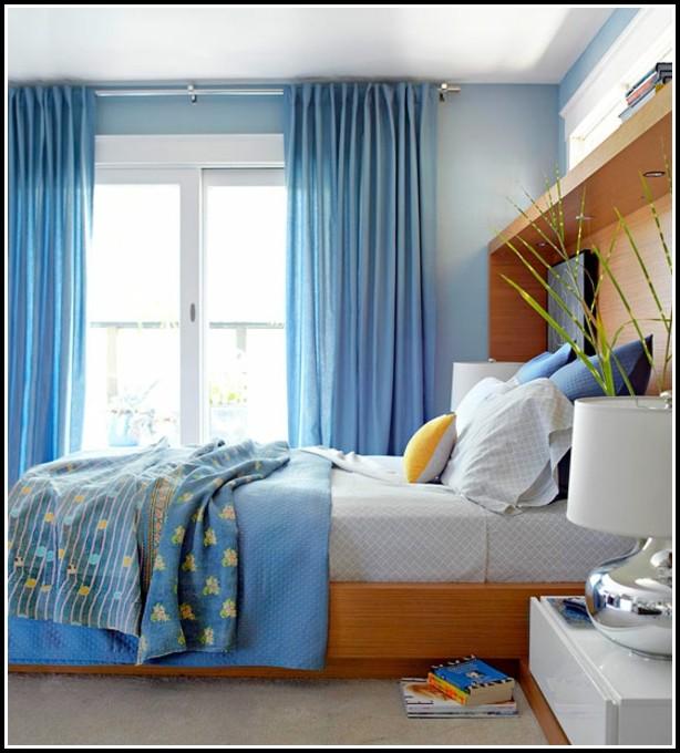 Schlafzimmer Blau: Vorhänge Schlafzimmer Blau