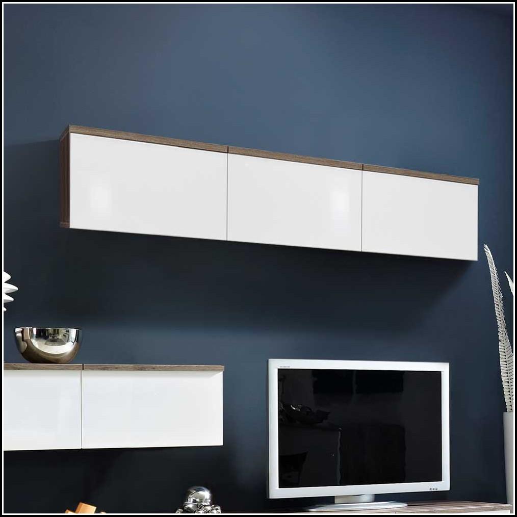 Wohnzimmer Hängeschrank Weiß Hochglanz