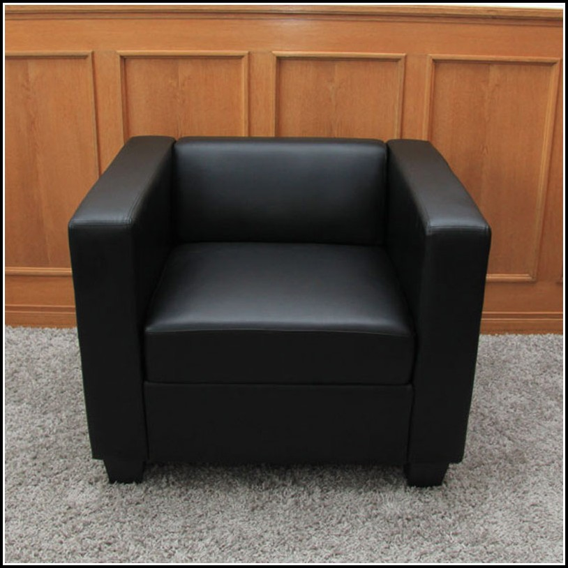 Chesterfield Sessel Schwarz Leder