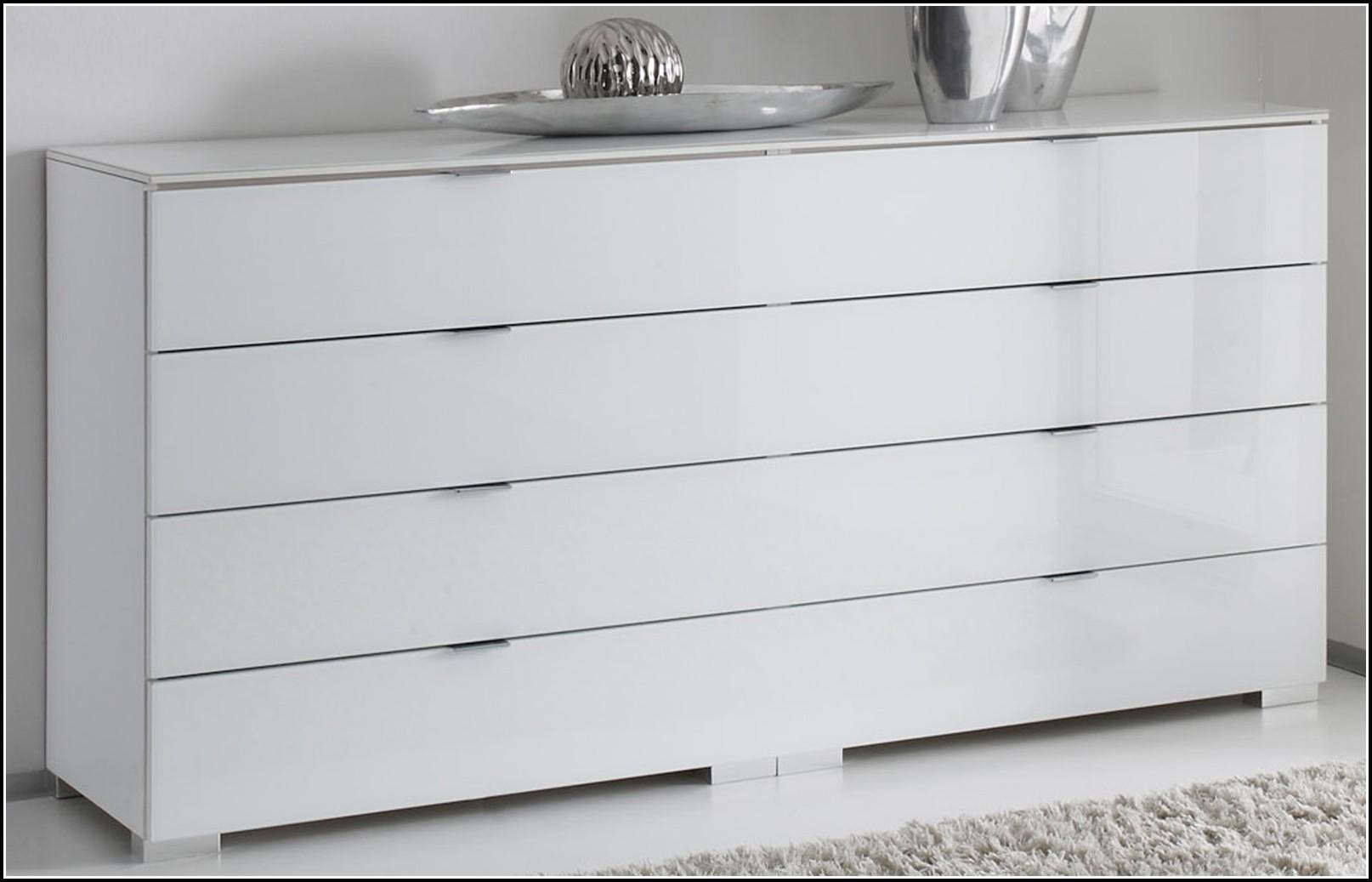 Kommode Schlafzimmer Weiß Hochglanz