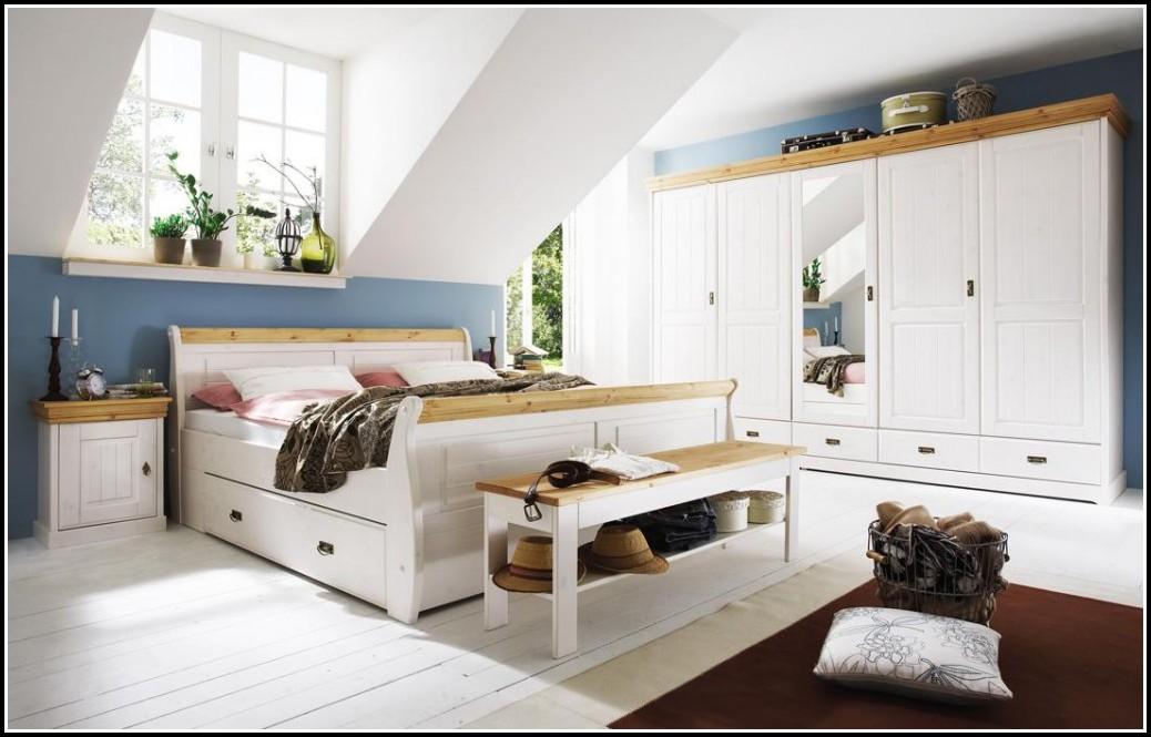 Schlafzimmer Malta Kiefer Weiß