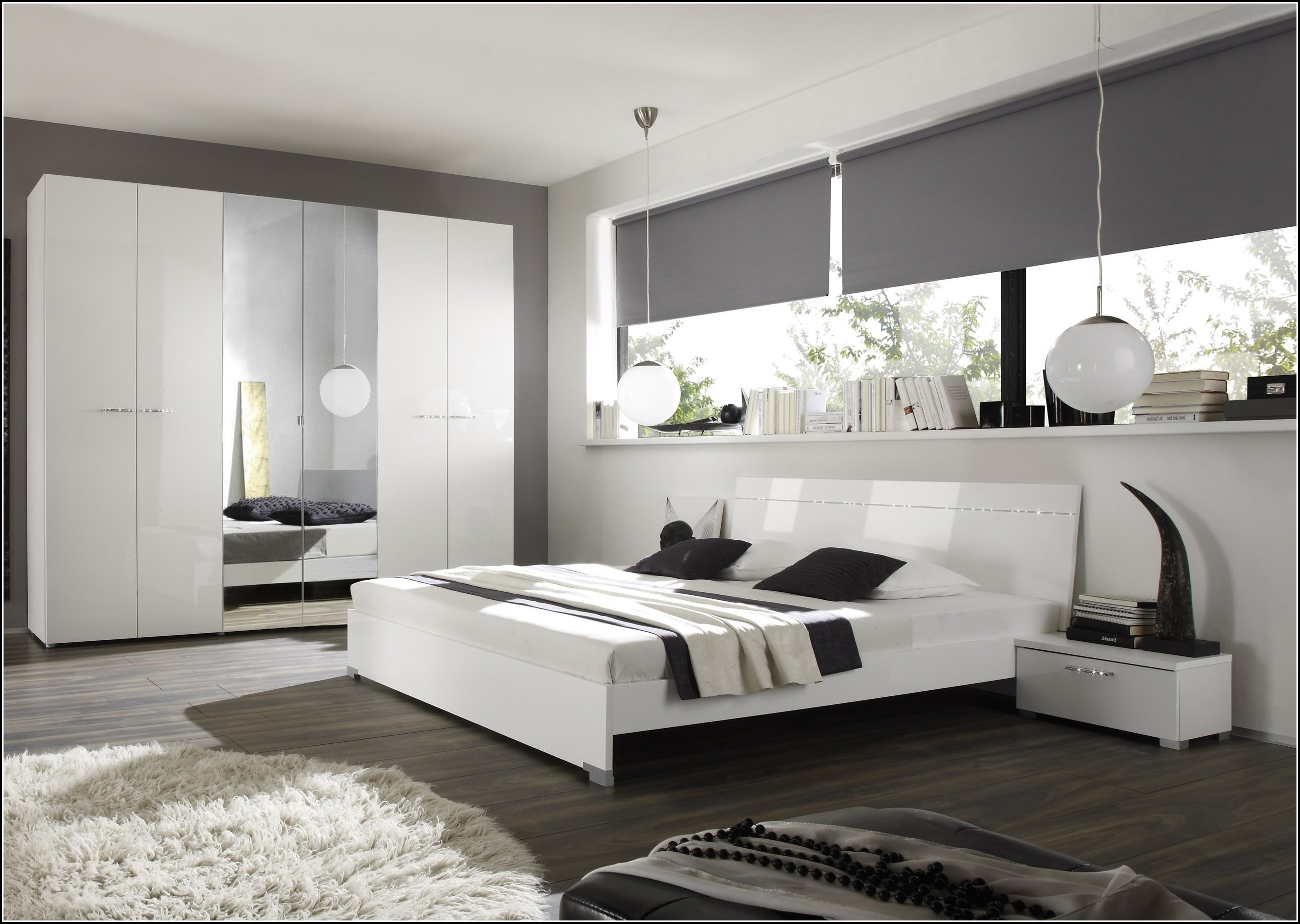 Schlafzimmer wei hochglanz lackiert schlafzimmer - Schlafzimmer hochglanz ...