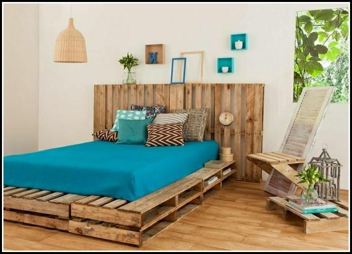 bett aus paletten mit lattenrost betten house und. Black Bedroom Furniture Sets. Home Design Ideas
