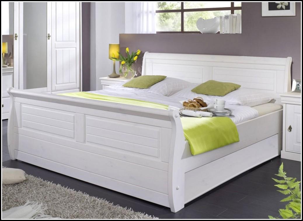 Bett Weiß 140x200 Holz