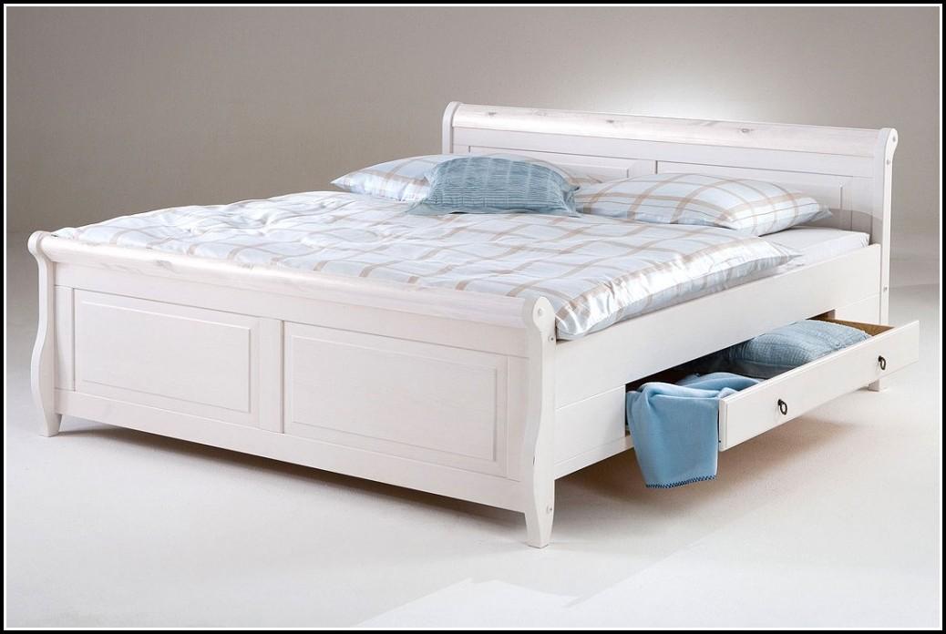 Bett Weiß 140x200