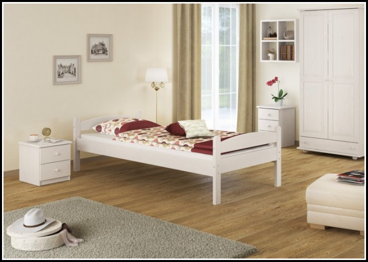 Bett Weiß 90x200 Cm