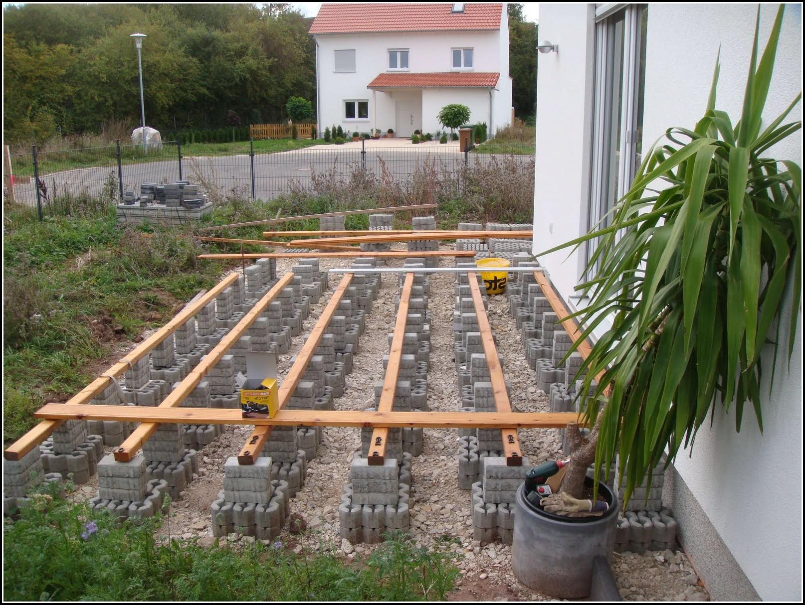 Garten Terrasse Bauen Anleitung
