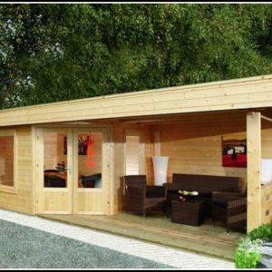 Gartenhaus Mit Terrasse Und Anbau