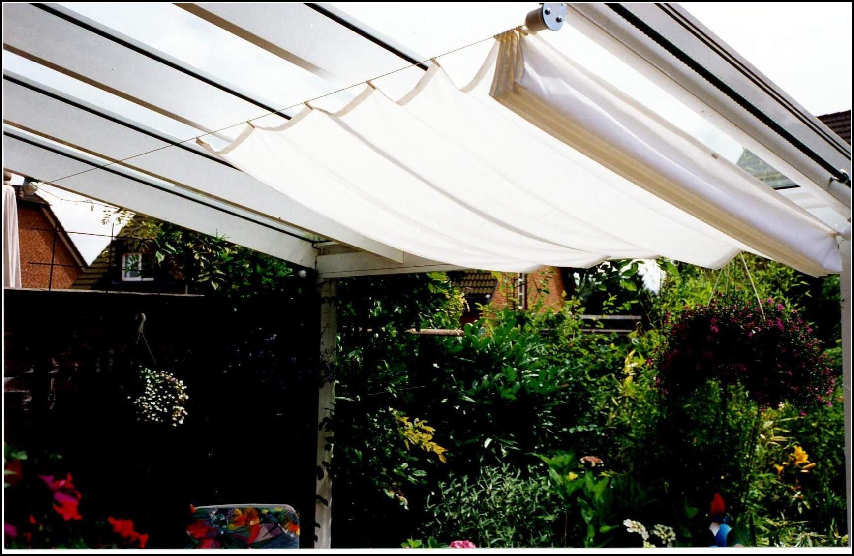 Sonnenschutz Für Terrassenüberdachung Selber Machen