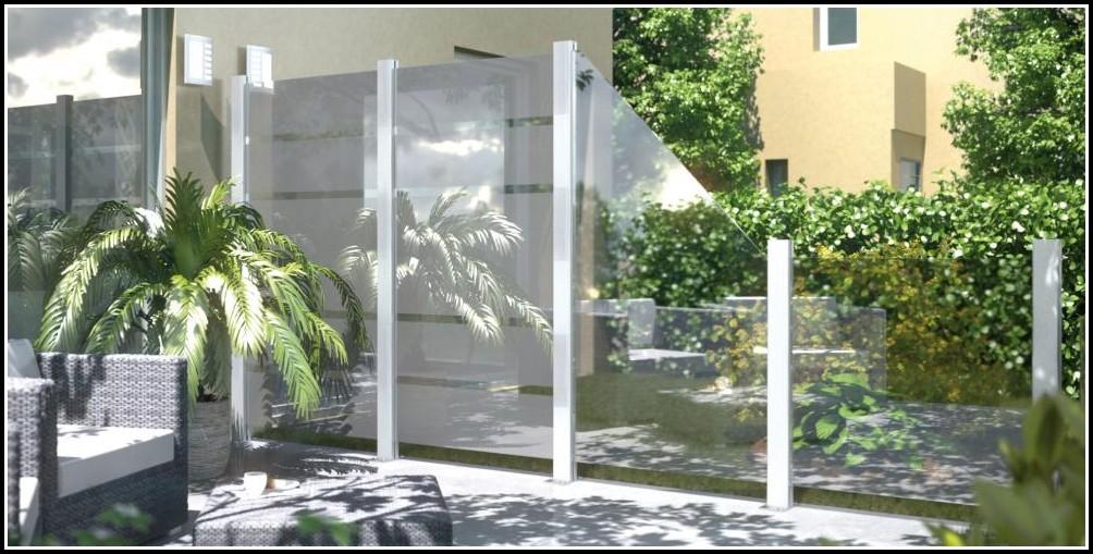 Windschutz Für Terrasse Aus Plexiglas
