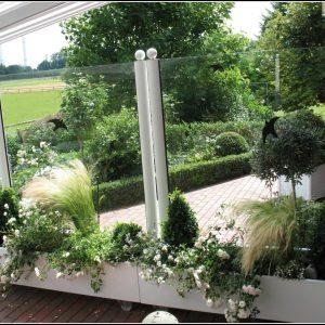 Windschutz Terrasse Glas Edelstahl