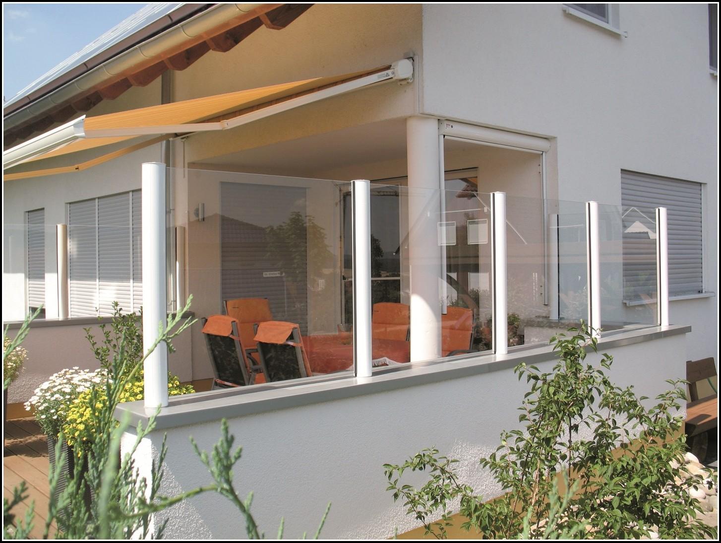 Windschutz Terrasse Glas Metall