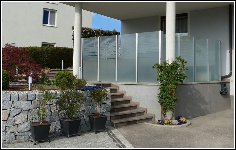 Windschutz Terrasse Glas Mobil