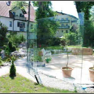Windschutz Terrassen Glas