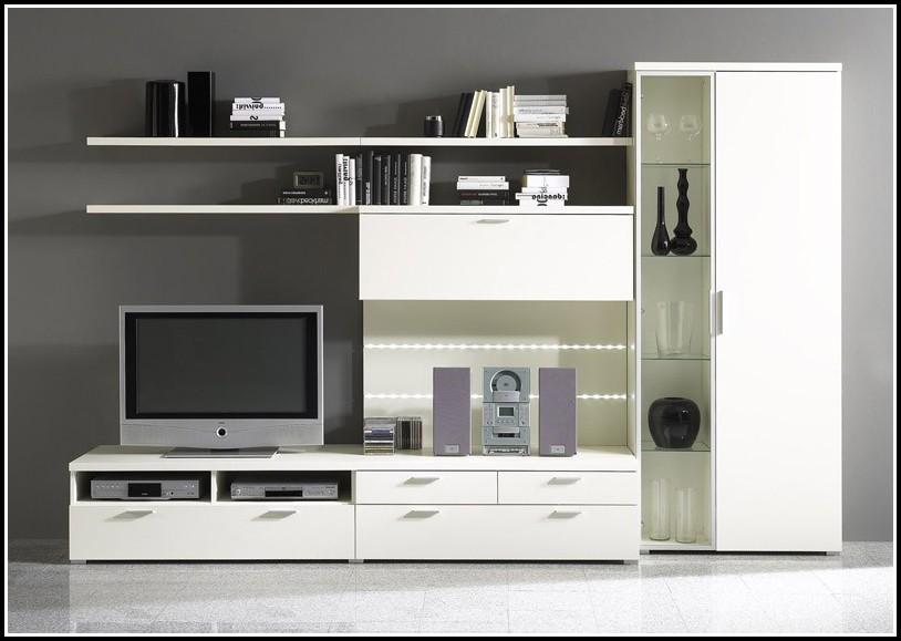 Wohnzimmer Schrankwand Weiß