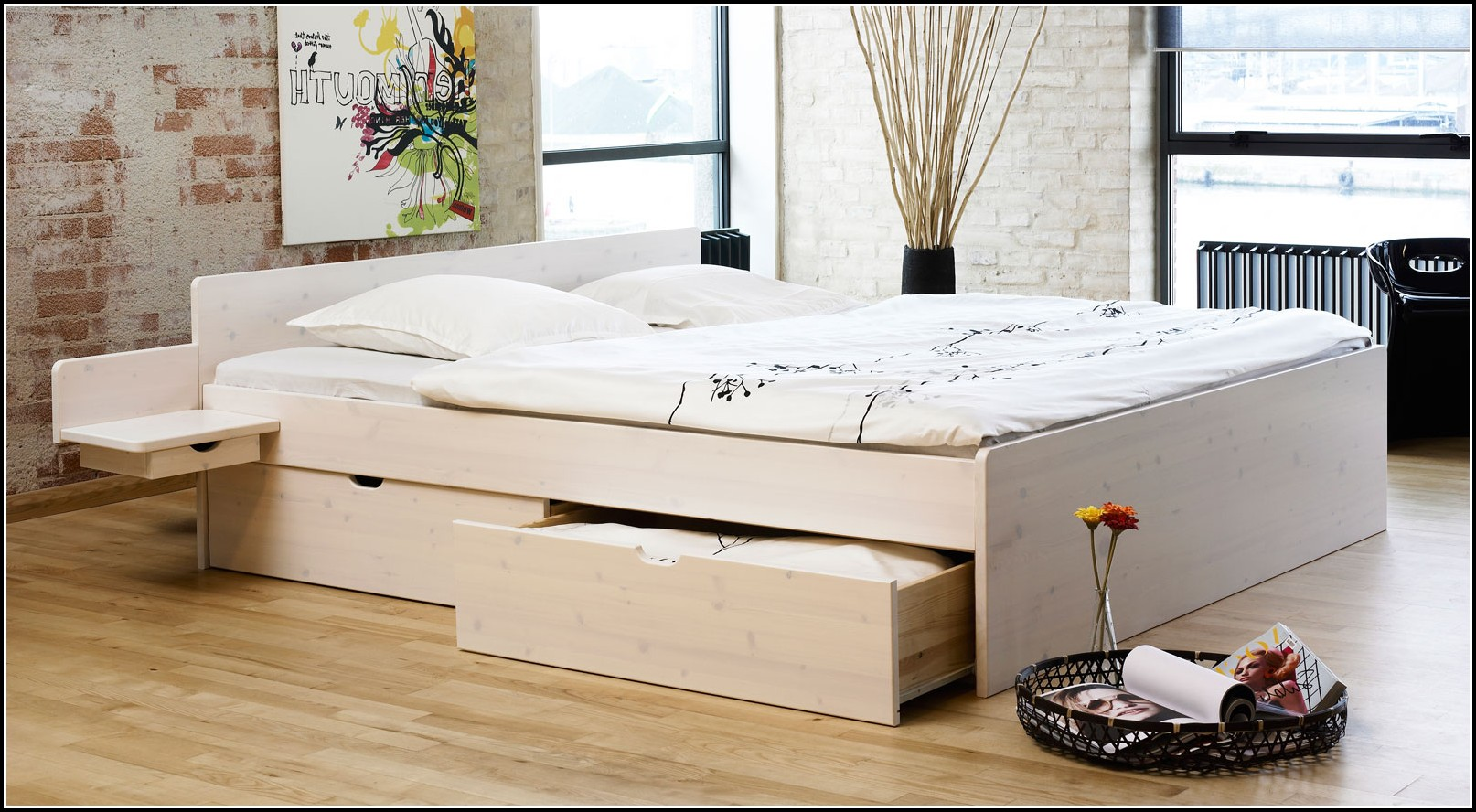 ikea bett weis holz betten house und dekor galerie. Black Bedroom Furniture Sets. Home Design Ideas