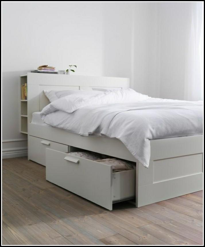 Ikea Bett Weis Schubladen