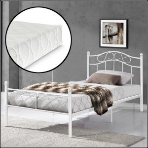 Bett 100x200 Metall Zuhause
