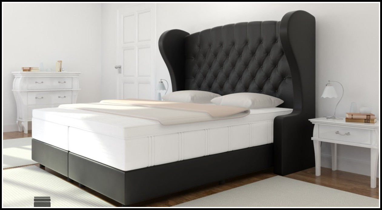 bett mit extra hohem kopfteil betten house und dekor galerie qd1zdzqk7p. Black Bedroom Furniture Sets. Home Design Ideas