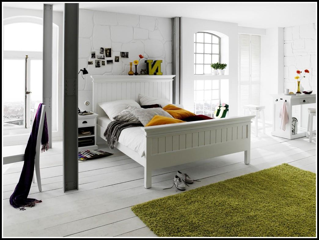 Bett Weis 180x200 Landhaus
