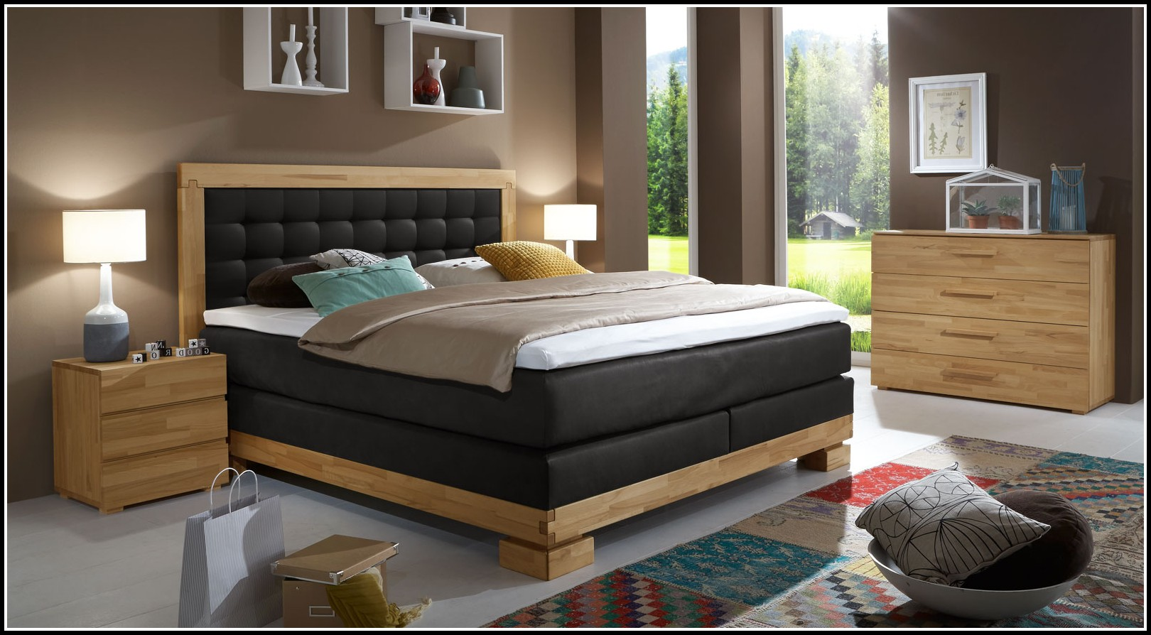 boxspring bett komplett 140x200 betten house und dekor galerie jlw8xpxweq. Black Bedroom Furniture Sets. Home Design Ideas