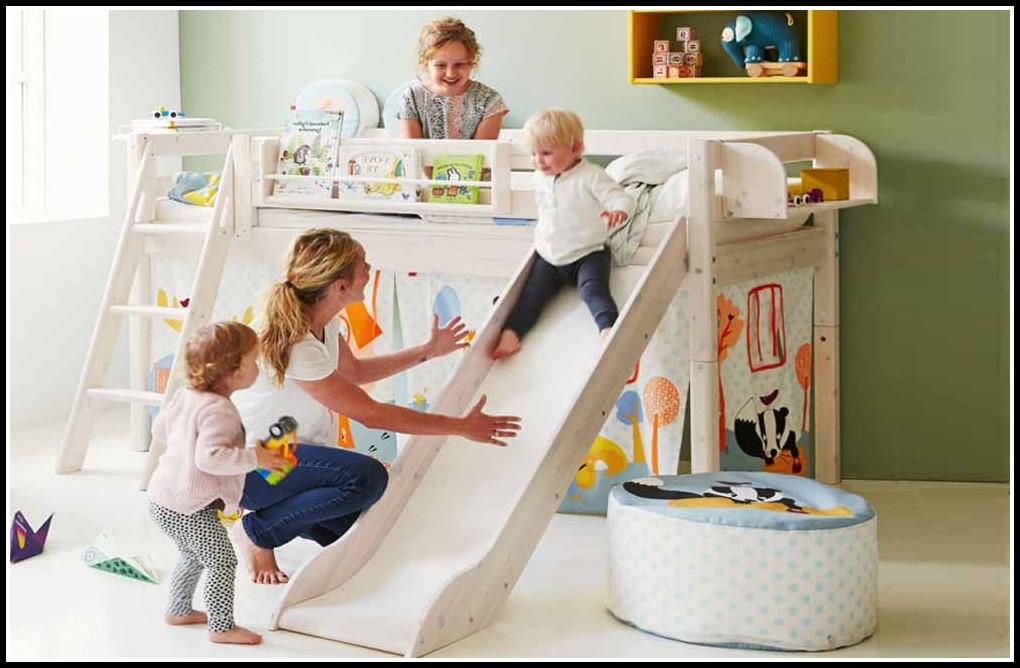 flexa halbhohes bett mit rutsche betten house und dekor galerie 0a1nax5wqg. Black Bedroom Furniture Sets. Home Design Ideas
