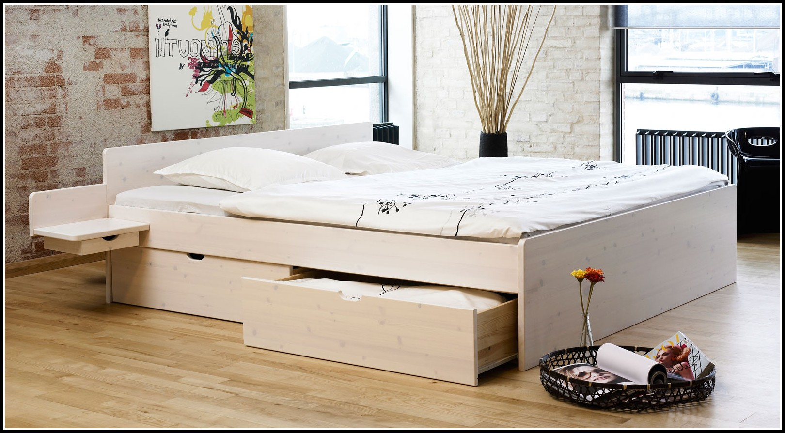 ikea bett weiss mit schubladen betten house und dekor. Black Bedroom Furniture Sets. Home Design Ideas