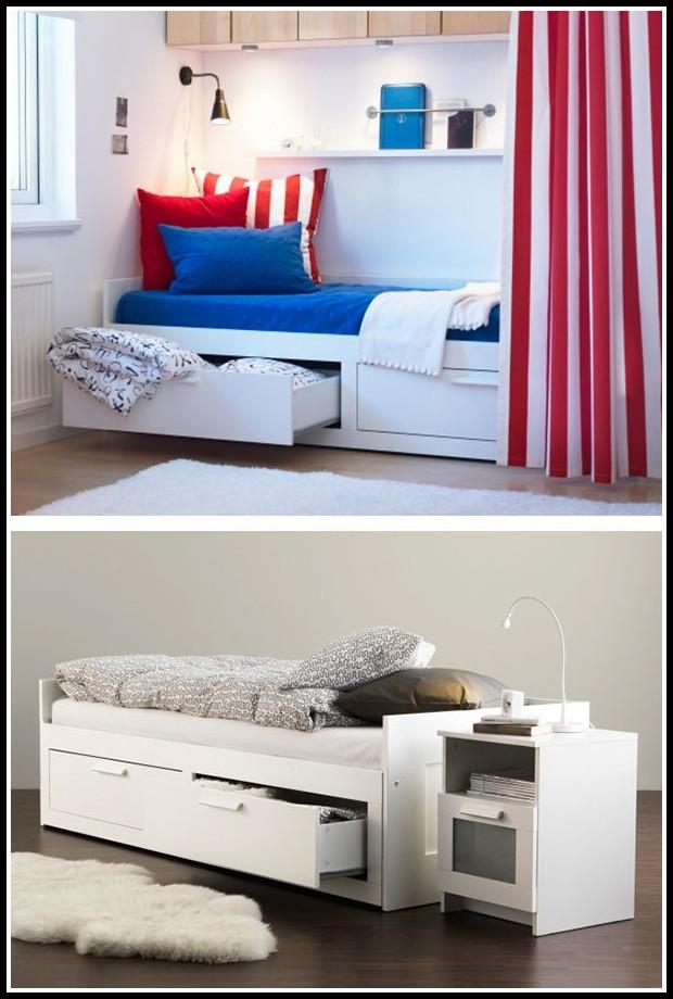 ikea flaxa bett mit schubladen betten house und dekor. Black Bedroom Furniture Sets. Home Design Ideas