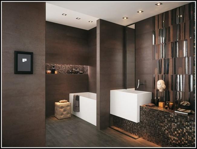 Badezimmer Fliesen Ideen Braun
