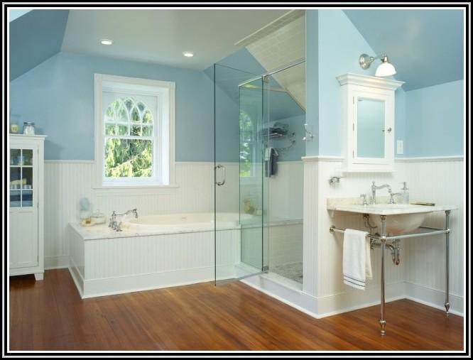 Badezimmer Gestalten Blaue Fliesen