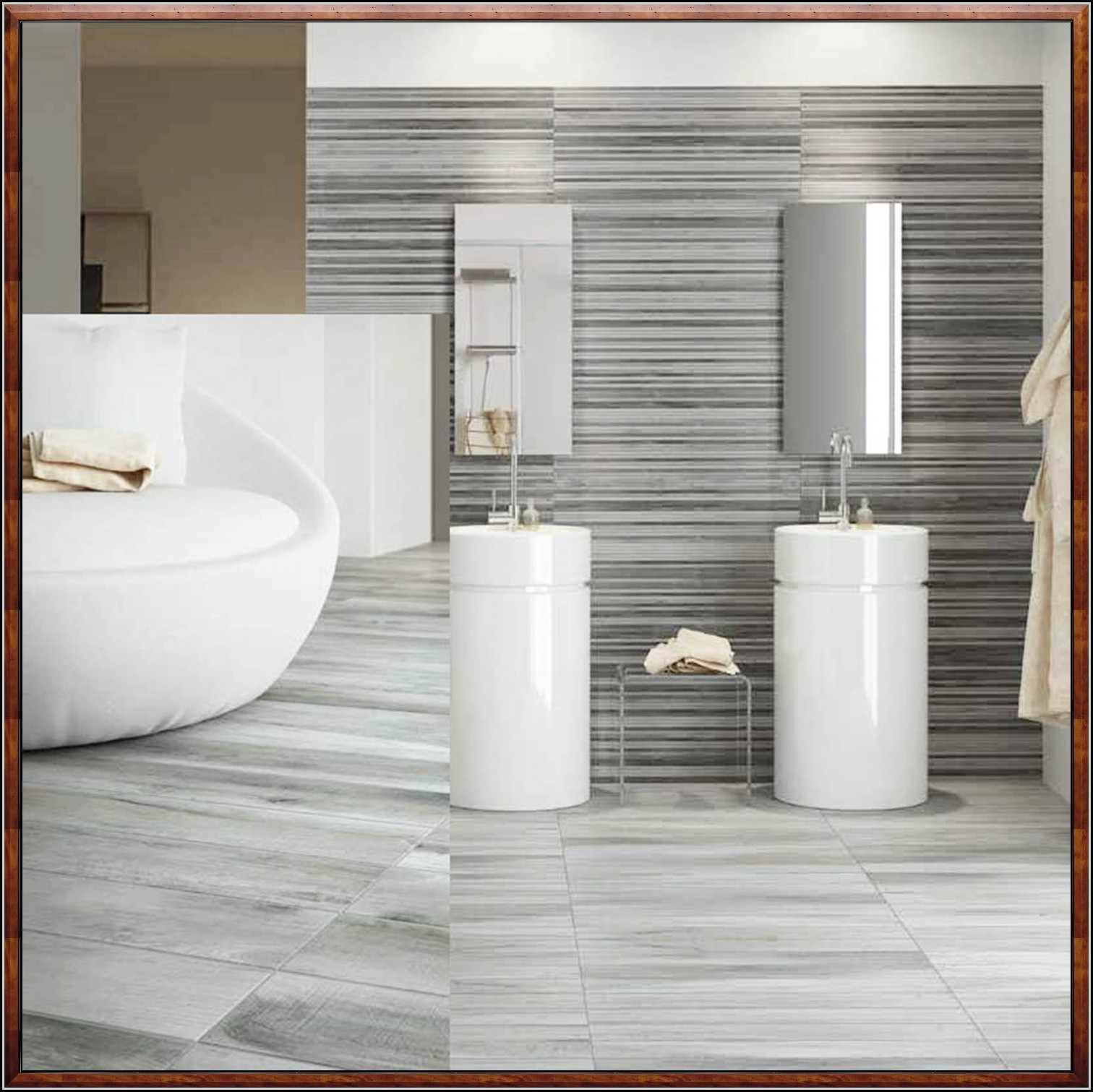 Badgestaltung Fliesen Beispiele Wohndesign: Badgestaltung Mit Fliesen In Holzoptik