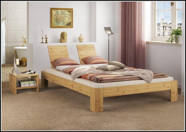 Bett 140x200 Kiefer Massiv Mit Lattenrollrost