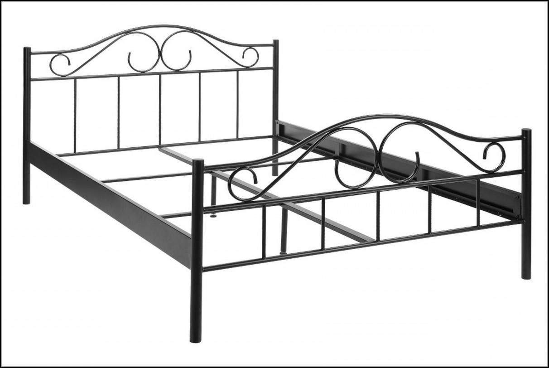 Bett 140x200 Metall Schwarz