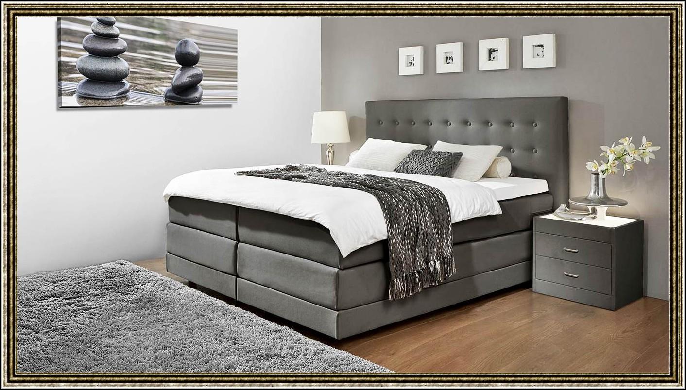 boxspring bett hohes kopfteil betten house und dekor. Black Bedroom Furniture Sets. Home Design Ideas