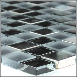 Glas Metall Mosaik Fliesen