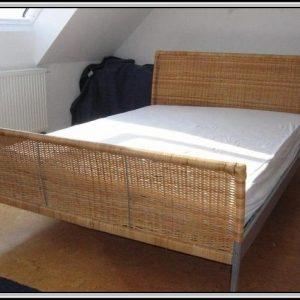 Ikea Rattan Bett Sundnes