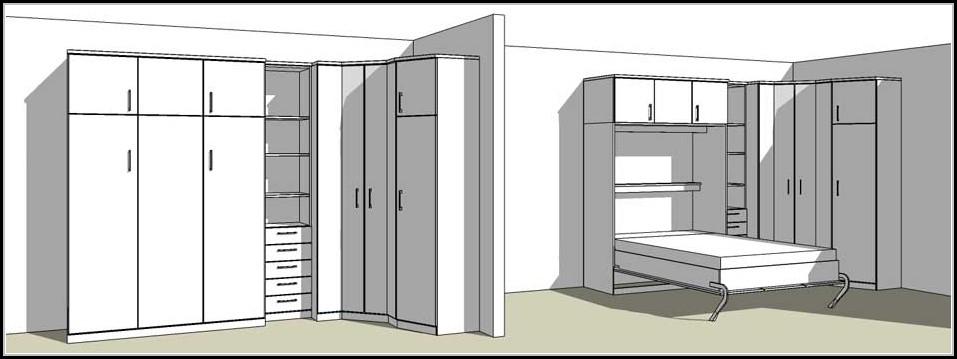 schrankwand mit bett betten house und dekor galerie 5nwlby3rao. Black Bedroom Furniture Sets. Home Design Ideas