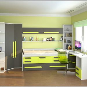 Nett Komplett Kinderzimmer Mit Hochbett Bilder >> Jugendzimmer Mit ...